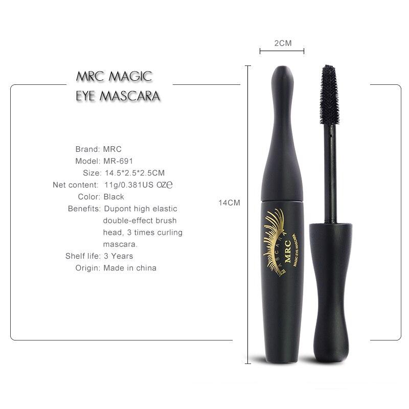MRC Waterproof 3D Curling Mascara Long Black Volume Eyelashes Extension Brush Makeup Mascara (2)