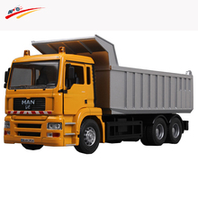 Alloy Diecaste Plastics Dump Truck 1:43 Tilting Cart Machine Model Engineering Vehicles Collection Hobby Toy Gift for Kids(China)