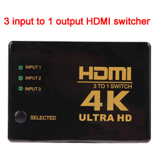 Hot sale 4K*2K 3 input to 1 output HDMI switcher HDMI Hub Splitter TV Switcher Ultra HD for HDTV PC for PS3/Xbox360