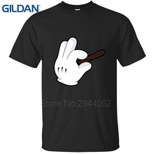 New Purple Clothes On Sale 2017 Cartoon Hand Holding Weed Joint Letter t shirt mens tee shirts Pre-Cotton cotton simple