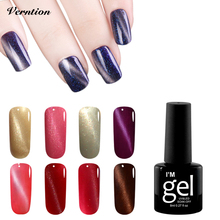 Verntion 24 Colour Nail Polish Gel Lasting 3D Cat Eyes UV Magnetic Nail Gel The Base and The Top Long-Lasting Gel Lacquer(China)