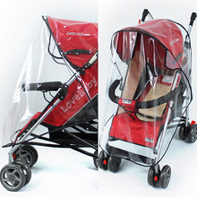 High Quality Universal Strollers Pushchairs Baby Carriage Waterproof Dust Rain Cover Windshield(China)