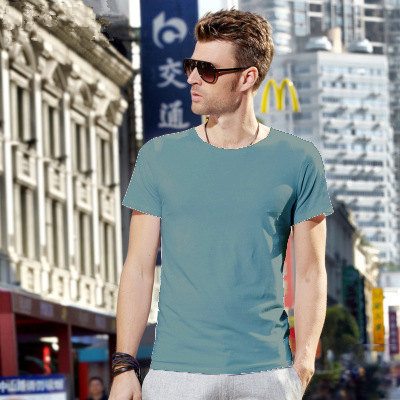 MRMT 2018 Brand New Mens T Shirt Short Sleeved T-Shirt V Collar Two Button Buttons Solid Colored Tshirt For Male Tops 65