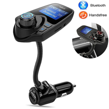 Bluetooth Car Kit Handsfree Wireless Bluetooth Music FM Transmitter USB Charger Adapter Kit For Fiat Audi Ford Bmw VW Honda Jeep