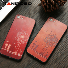 Buy Top Wood Case iphone 7 6 6s Plus 7Plus Cover DIY Dandelion Rose Maple Wooden Embossed Phone Cases Fundas iPhone7 for $1.37 in AliExpress store
