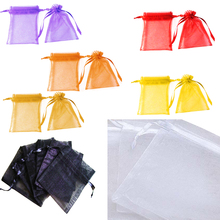 50/100pcs 9 x 12cm Organza Bag Wedding Favor Jewelry Packaging Gifts Pouch Drawing Party Candy Decoration Bags Display