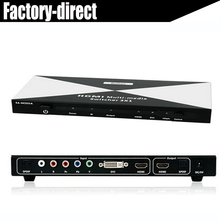 3X1HDMI DVI Ypbpr component to HDMI Multi-media Switcher with toslink audio in&out+remote control