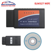 High Quality Auto WiFi OBD/ODB2 Diagnostic Tool ELM327 WIFI Scanner OBDII OBD free shipping