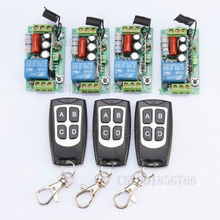 Receiver & Transmitter 220V 1CH 10A Wireless Remote Control Relay Switch System Light Lamp LED SMD ON OFF