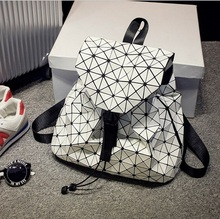 BaoBao Diamond Woman Drawstring bag Laser female bag mirror stereo BAOBAO folding bag Shoulder bag with logo