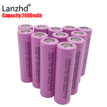 40pcs Original 18650 rechargeable batteries 3.7V li-ion 2600mAh 18650 rechargeable Battery for Flashlight Torch ICR18650-26F(China)
