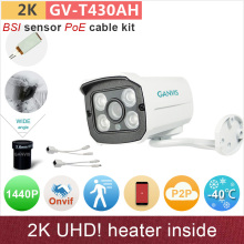 Heater insied# 4mp IP camera with PoE cable 2K UHD(4*720P)/1080P HD outdoor mini security cctv camera ONVIF P2P GANVIS GV-T430AH