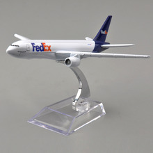 1/400 Scale Fedex Express Airplane Model Boeing B777 N850FD Diecast Plane Model Collectible Aircraft Toys