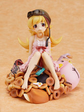 "Cute 8"" Bakemonogatari Oshino Shinobu Donut Doughnut Version 1/8 Scale Boxed PVC Action Figure Model Toy Gift"