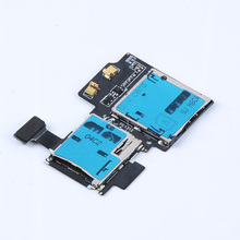 SD +SIM Card Tray Holder Slot Flex Cable For Samsung Galaxy S4 i9500 I9505