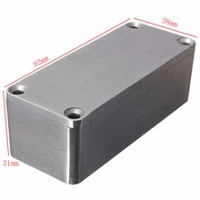 1pc Silver Aluminium Enclosure Case 1590A Mini Electronic Project Box 92x38x31mm(China)