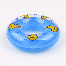 2pcs/set Baby Bath Toys Shower Toy Swim Ring Creative Water Toy Vinyl Duck  Accessories Swimming supplies  9*3cm kids toys