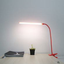 6W LED Desk Lamp 30 lamp beads Ultra Bright Flexible USB Student Lamp Reading Light Table Lamp black pink green Clip Light(China)