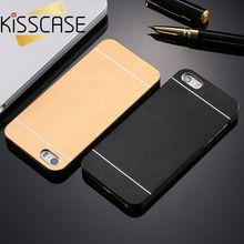 KISSCASE Cool Metal Gold Case For Apple iphone 5 5S SE Aluminum Plastic Hard Back Phone Accessories Luxury Cover for iPhone 5S