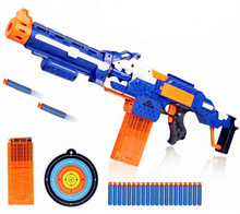 Children's Electric Gun Toy Dismountable Guns Soft Bullet Sniper Rifle Plastic Gun 20 Bullets 1 Target Gift Toys For Child