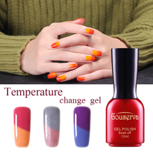 2016 Most popular 12 color Temperature Thermal Change Gel Nail Polish UV/LED Gel Need Dried By Uv/led Lamp Keep Long Lasting