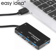EASYIDEA High Speed USB Hub 3.0 4 Ports USB 3.0 Hub 5Gbps Micro Hub USB Splitter Adapter For Computer Peripherals Accessories