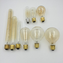 Home Bulbs Filament Light Vintage Retro Antique Industrial Style Lamp Bulb T30-185 T225 Tungsten Bulb E27 Globe Edison Light(China)