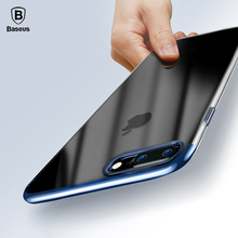 Baseus Ultra Thin Hard PC Case For iPhone 7 7 Plus 8 8 Plus Luxury Plating Plastic Case For iPhone 8 8 Plus 7 Plus Cases Cover(China)