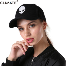CLIMATE Men Women Aliens Baseball Caps Black Cool Outstar UFO Kid Children Teenagers Adult Men Women Space Sport Active Hat Caps(China)