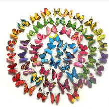 12 Pcs/Lot Butterfly Decals 3D Wall Stickers Home Decor Poster for Kids Rooms Adhesive to Wall Decoration De Parede(China)