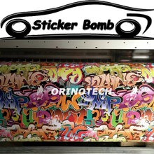 Big Colorful Letters Car Styling Graffiti Sticker Bomb Vinyl Film Sticker Bombing Graffiti Vinyl Wrap Air Bubble Free