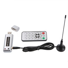10Pcs USB 2.0 DVB-T HDTV Tuner Recorder Receiver Software Radio DVB T Tuner HD TV with Antenna for Notebook Laptop tablet