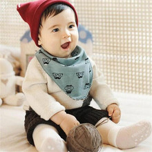 2017 discount price Kids Triangle Bibs Saliva Towel Waterproof Bibs For Babies for 1-3 years child(China)