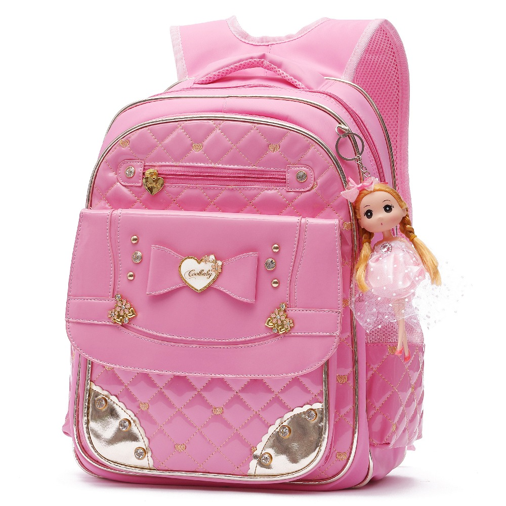 fb2a6a5979a9 Cute Waterproof PU Leather Backpack For Girls Princess Style Bowknot ...