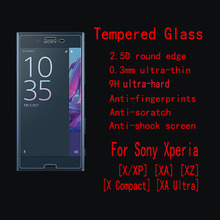 Tempered Glass Screen Protector For Sony Xperia X / XP (X Performance) XA XZ X Compact  XA Ultra With Retail Package