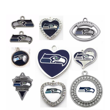 (11 Pieces/Lot) Wholesale! NFL Football Seattle Seahawks Charms For Making Jewelry Bracelet Necklaces Earrings Drop Shipping
