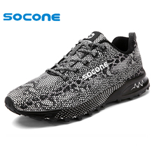 2016 SOCONE comfortable men running shoes,super light sneakers wearable men athletic shoes,brand sport shoes running men