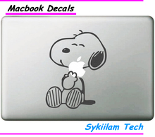 Dog Smiling Cartoon for apple Sticker Macbook Skin Air 11 12 13 Pro 13 15 17 Retina Decal Loptop Wall Car Vinyl Logo Case