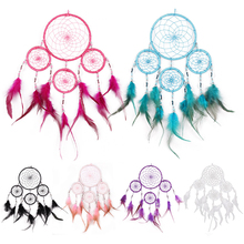 Fashion Handmade 6 Colors Dream Catcher Feathers Hunter substance attrape reve Wall Hanging Decoration Ornament Home Decor Gift