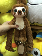 Cute soft plush Belt the sloth brown Croods long arms Monkey toy doll, creative graduation & birthday gift for children, 1 pc