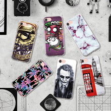 Classic Marble Heath Ledger Telephone Booth for Superhero Movie Clown Pattern Phone Cases for Iphone 7 Plus Silicone Case Coque(China)