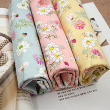 Wild chrysanthemum cotton 3 color Suihua cloth bedding Home Furnishing cotton twill cloth quilt handmade cloth DIY