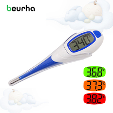 Beurha Digital LCD Heating Baby Thermometer Tools High Quality Kids Baby Child Adult Body Temperature Measurement(China)