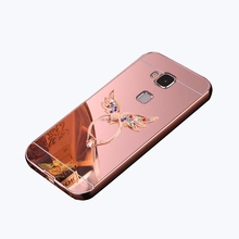HOLAZING 2 in 1 Detachable Metal Aluminum Bumper Frame Case for Huawei Nova Plus/G9 Plus/Head 5 With Mirror Back Hard Cover