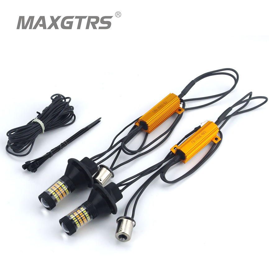 2x S25 P21W 1156 BA15S 96 SMD 3014 Car Led Light Daytime Running Light+Turn Signal Dual Mode Canbus DRL LED Fog External Lights<br><br>Aliexpress