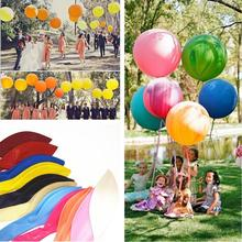 "OURUOLA 18"" 45cm Round Big Giant Balloon Decorate Balloon Helium Inflate Latex Balloons Birthday Wedding Party Decoration Toys(China)"