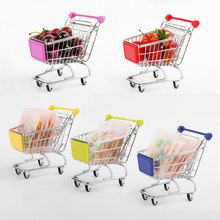 Mini Shopping Cart Safe Trolley Toy Classic Children Puzzle Supermarket Car Pretend Play Furniture Toys Children Play House Toys(China)
