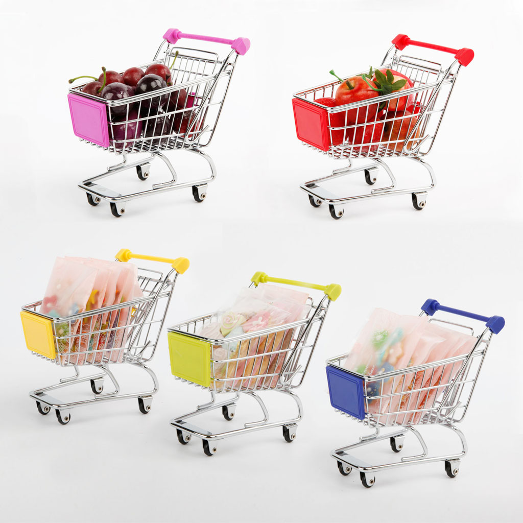 Mini Shopping Cart Safe Trolley Toy Classic Children Puzzle Supermarket Car Pretend Play Furniture Toys Children Play House Toys(China (Mainland))