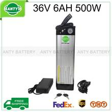 36v Ebike Battery 6ah 500w Electric Bicycle Battery 36v With 42v 2a Charger,15a Bms Lithium Scooter Battery 36v Free Shipping