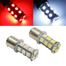 2PCS/Lot White Red Amber 1156 BA15S 18 SMD 5050 LED Bulb Lamp Enternal Auto Car Sourse Turn Signal Backup Brake Reverse Light